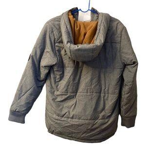 Timberland grey hooded jacket coat boys XL 18/20